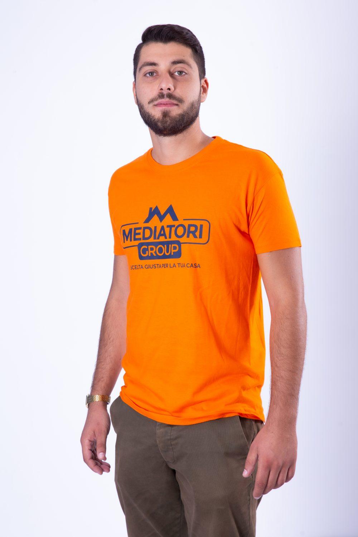 Tshirt Arancione Allenamento Mediatori