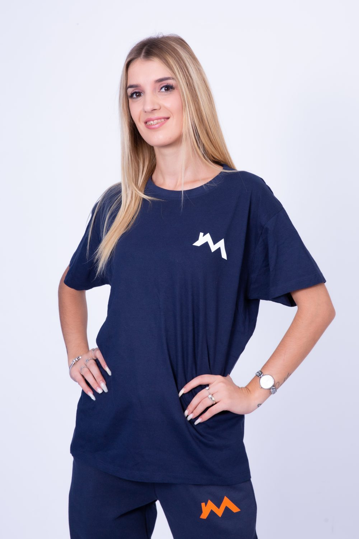 Tshirt Blu Allenamento Fronte Mediatori