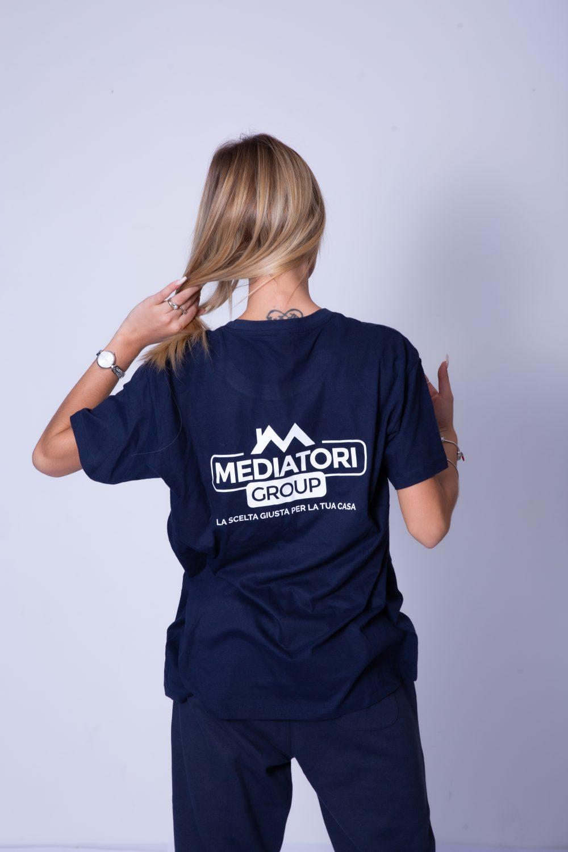 Tshirt Blu Allenamento Retro Mediatori